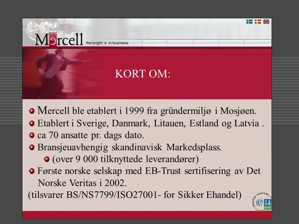 KORT OM: Mercell ble etablert i 1999 fra gründermiljø i Mosjøen.