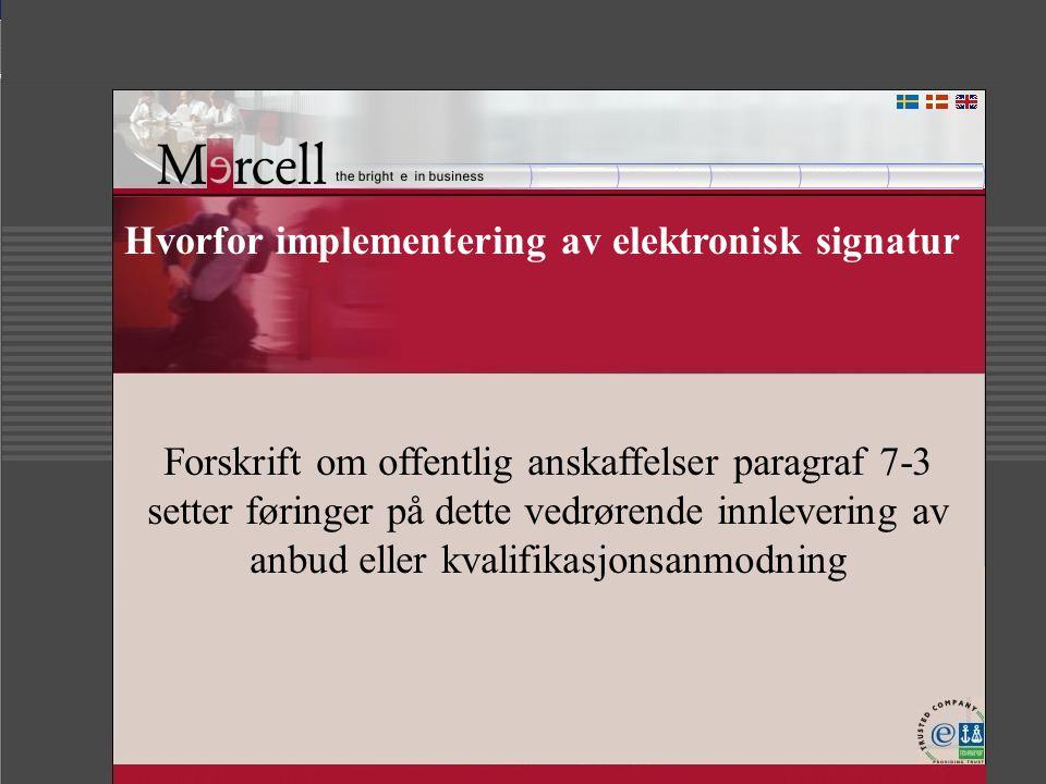 Hvorfor implementering av elektronisk signatur