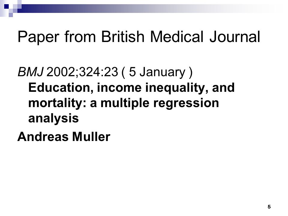Paper from British Medical Journal
