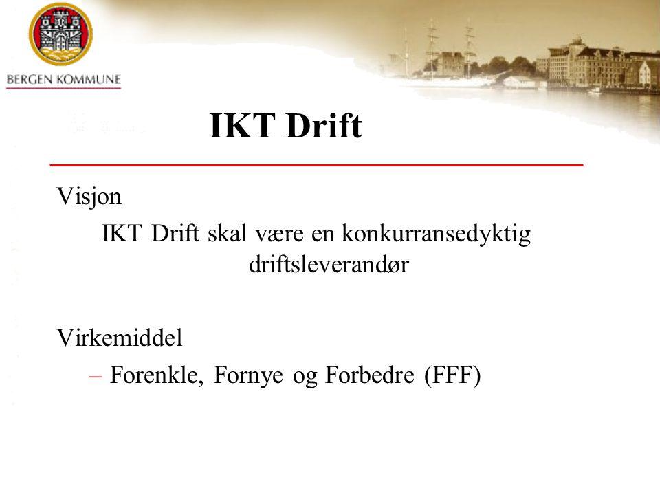 IKT Drift skal være en konkurransedyktig driftsleverandør