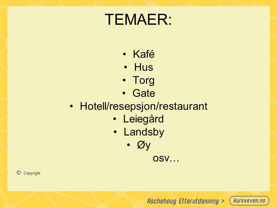 Hotell/resepsjon/restaurant