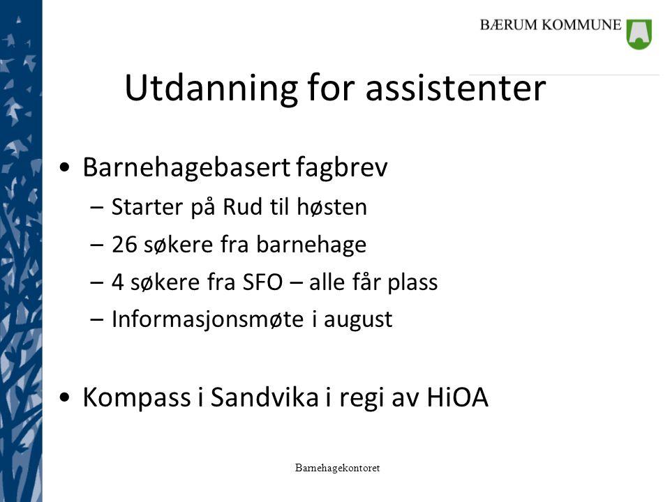 Utdanning for assistenter