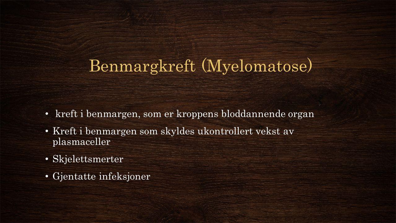 Benmargkreft (Myelomatose)