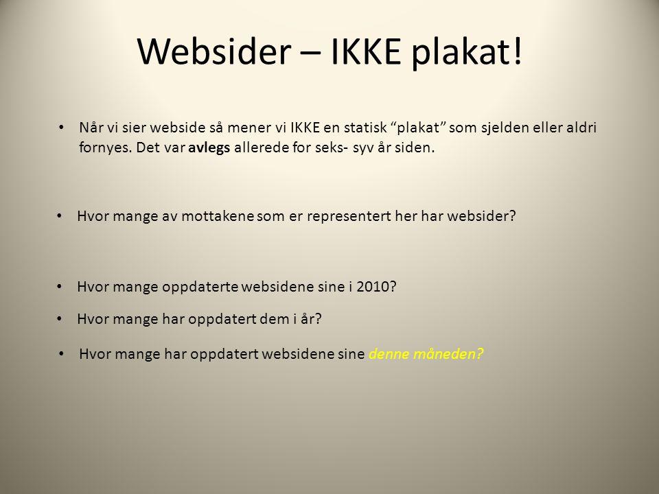 Websider – IKKE plakat!
