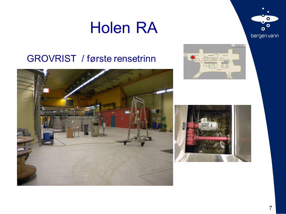 Holen RA GROVRIST / første rensetrinn 7