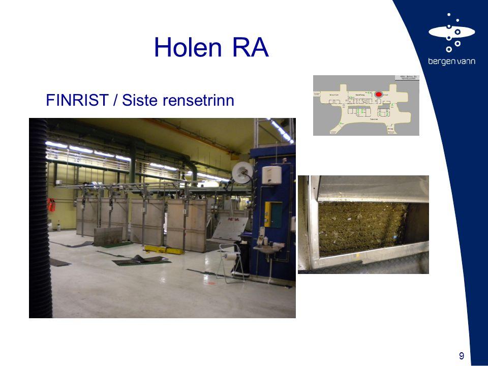 Holen RA FINRIST / Siste rensetrinn 9