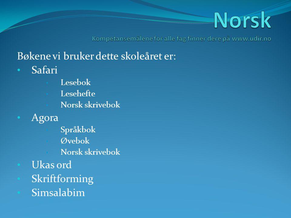 Norsk Kompetansemålene for alle fag finner dere på www.udir.no