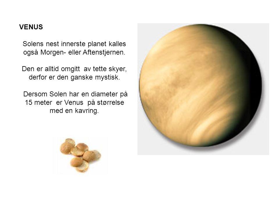 Solens nest innerste planet kalles også Morgen- eller Aftenstjernen.