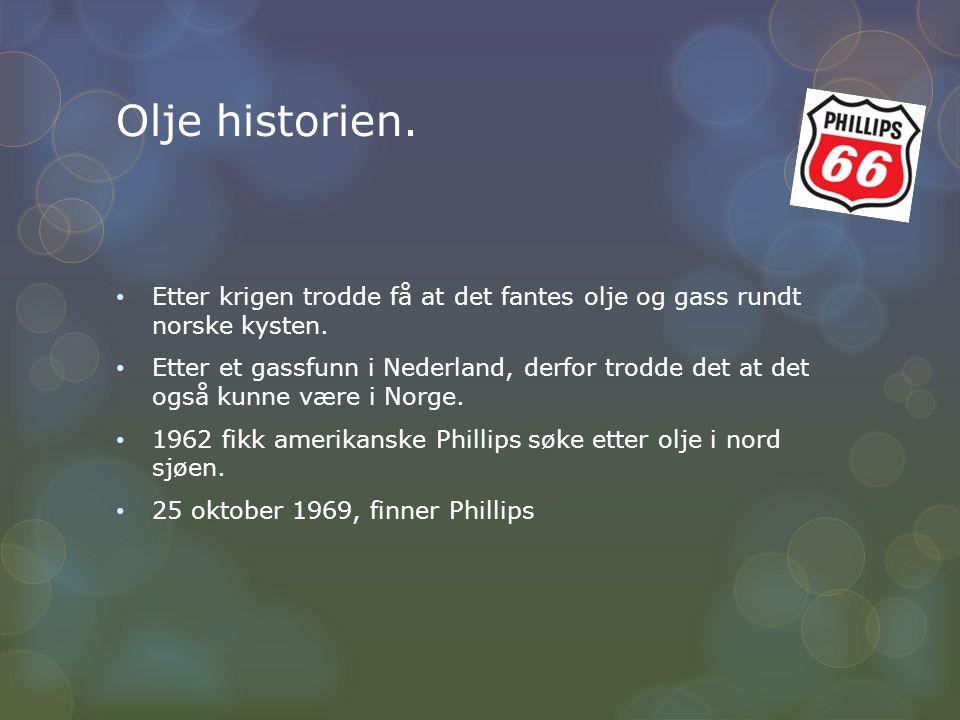 Olje historien. Etter krigen trodde få at det fantes olje og gass rundt norske kysten.