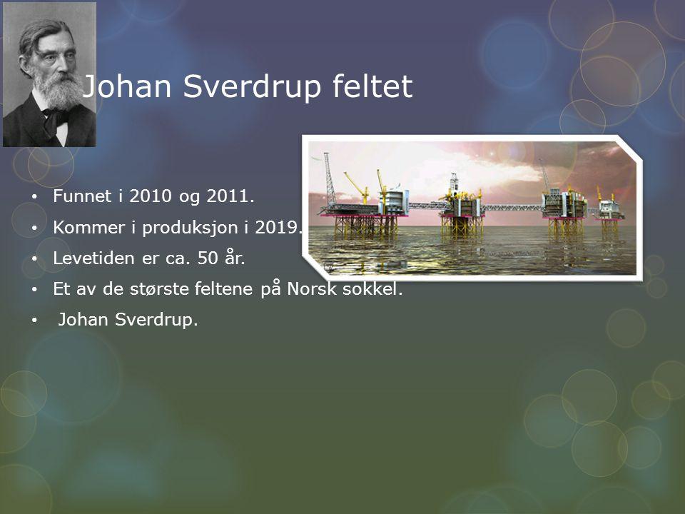 Johan Sverdrup feltet Funnet i 2010 og 2011.
