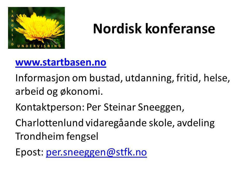 Nordisk konferanse www.startbasen.no