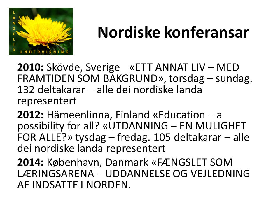 Nordiske konferansar