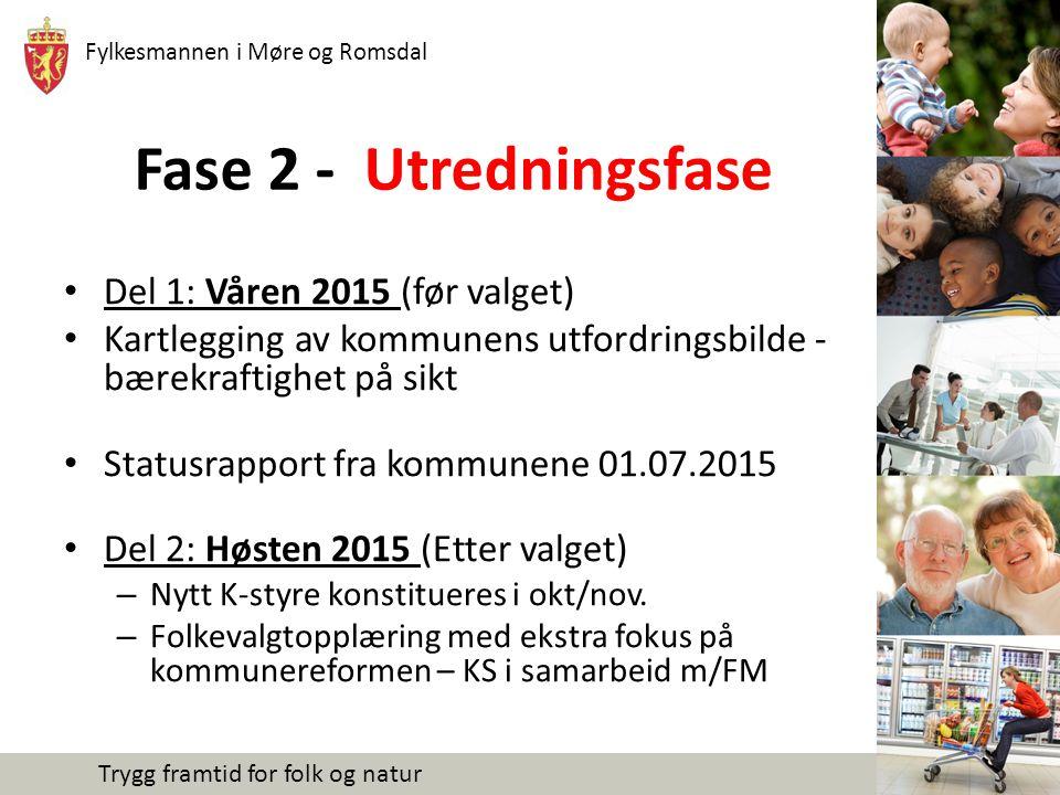 Fase 2 - Utredningsfase Del 1: Våren 2015 (før valget)
