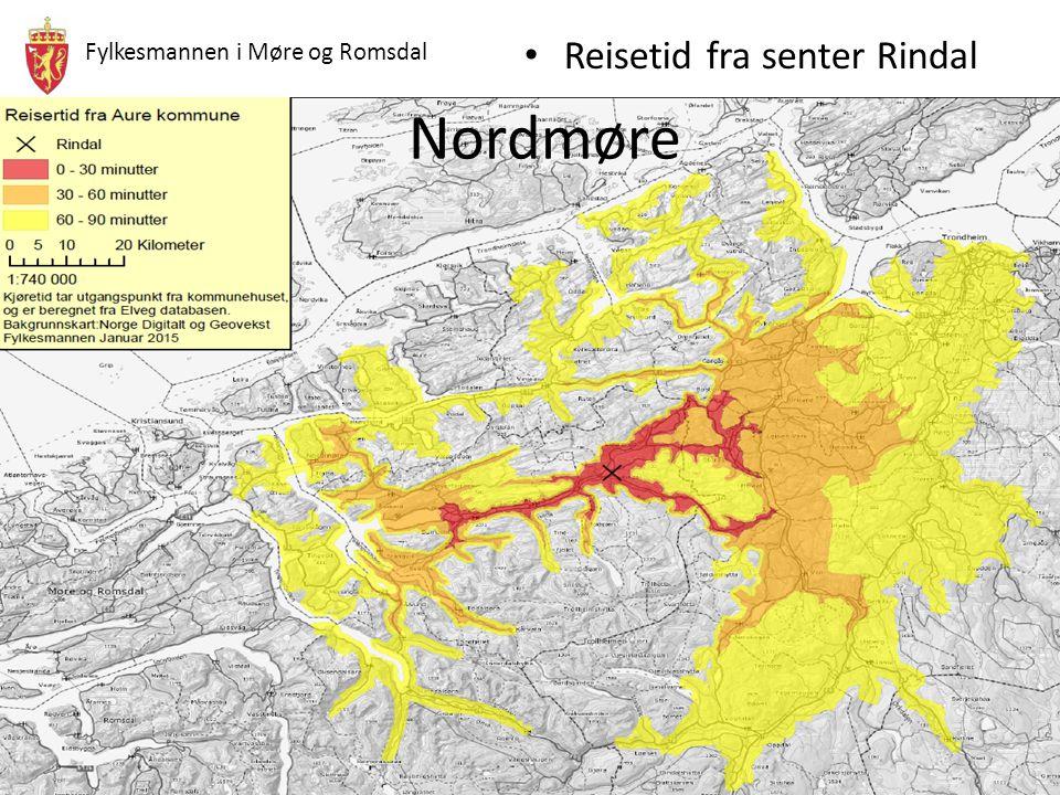Nordmøre Reisetid fra senter Rindal