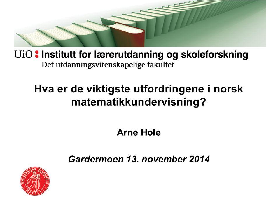 Hva er de viktigste utfordringene i norsk matematikkundervisning