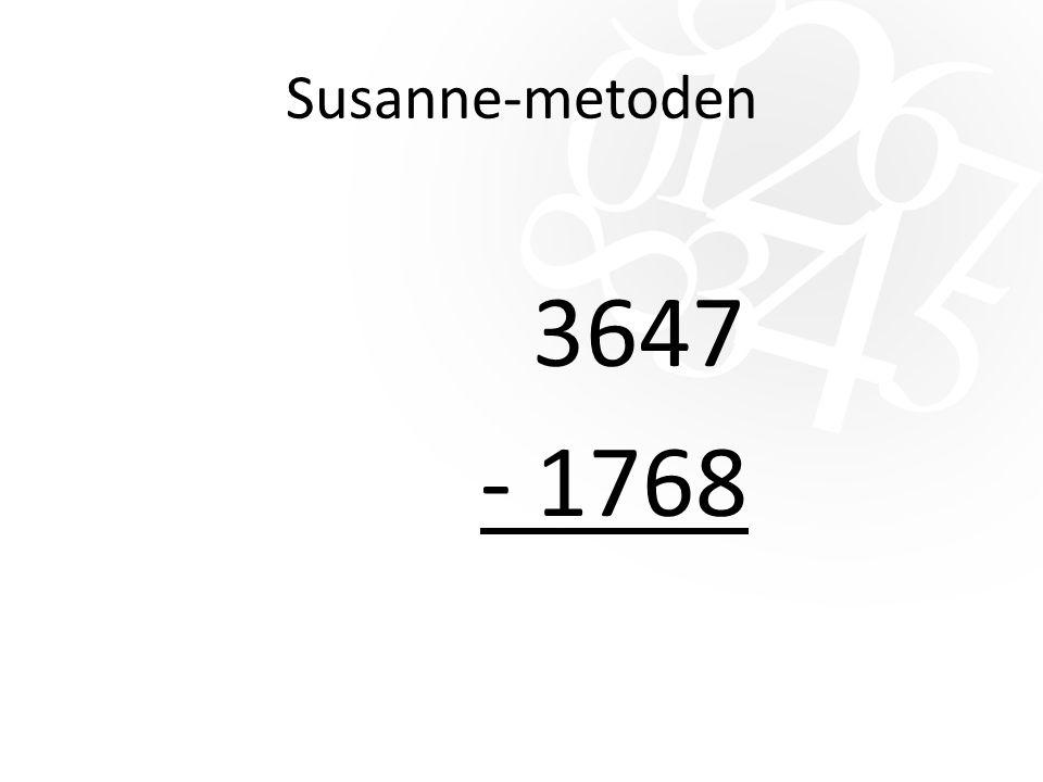 Susanne-metoden 3647 - 1768