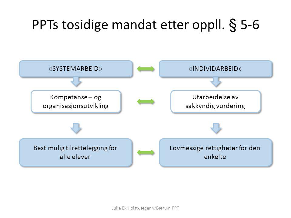 PPTs tosidige mandat etter oppll. § 5-6