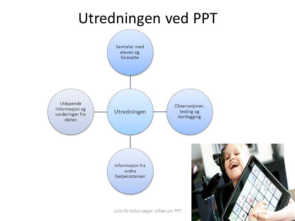 Utredningen ved PPT Julie Ek Holst-Jæger v/Bærum PPT Utredningen