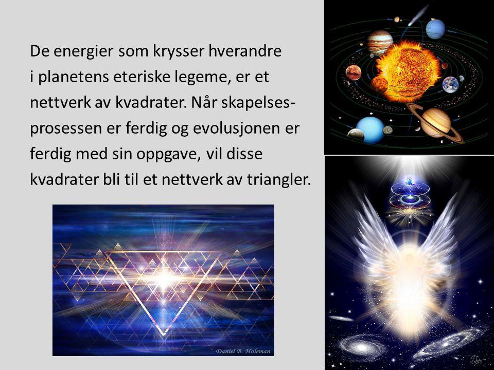 De energier som krysser hverandre i planetens eteriske legeme, er et nettverk av kvadrater.