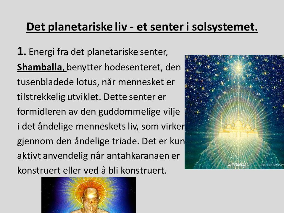Det planetariske liv - et senter i solsystemet.