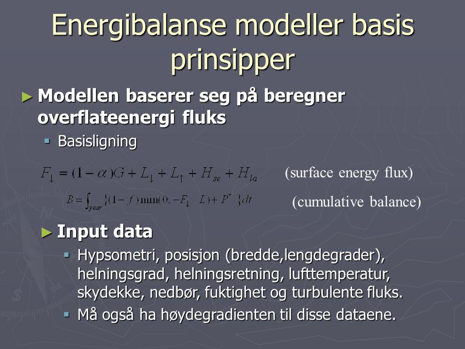 Energibalanse modeller basis prinsipper