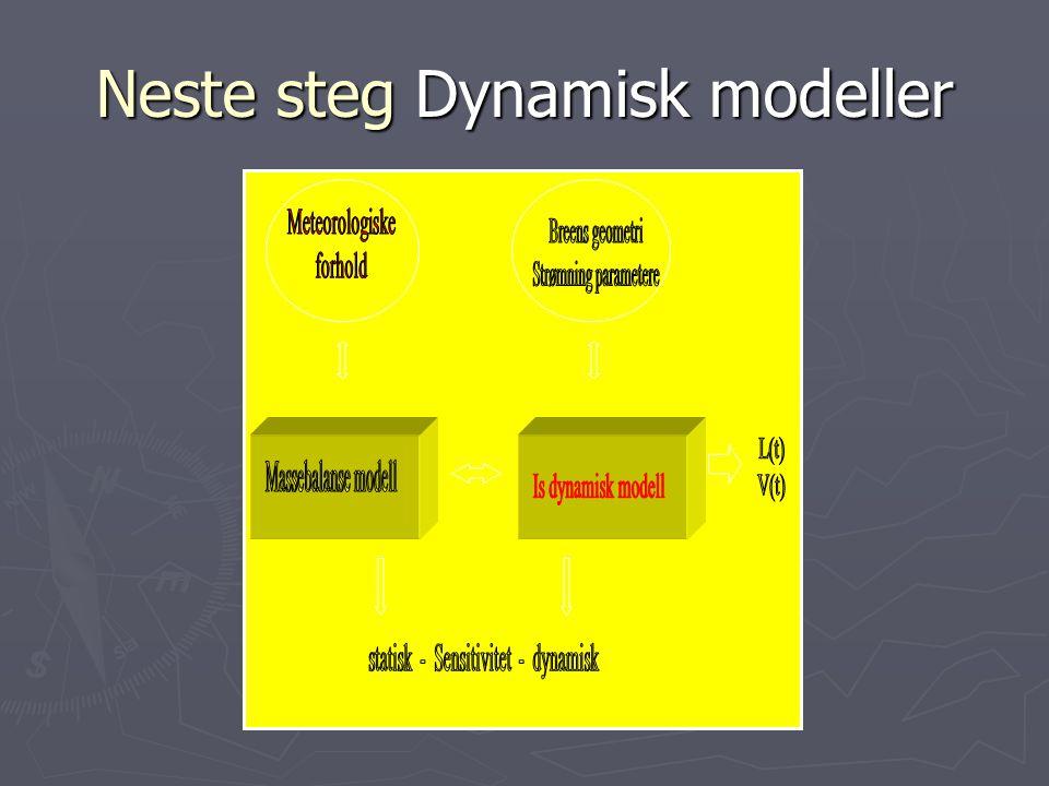 Neste steg Dynamisk modeller