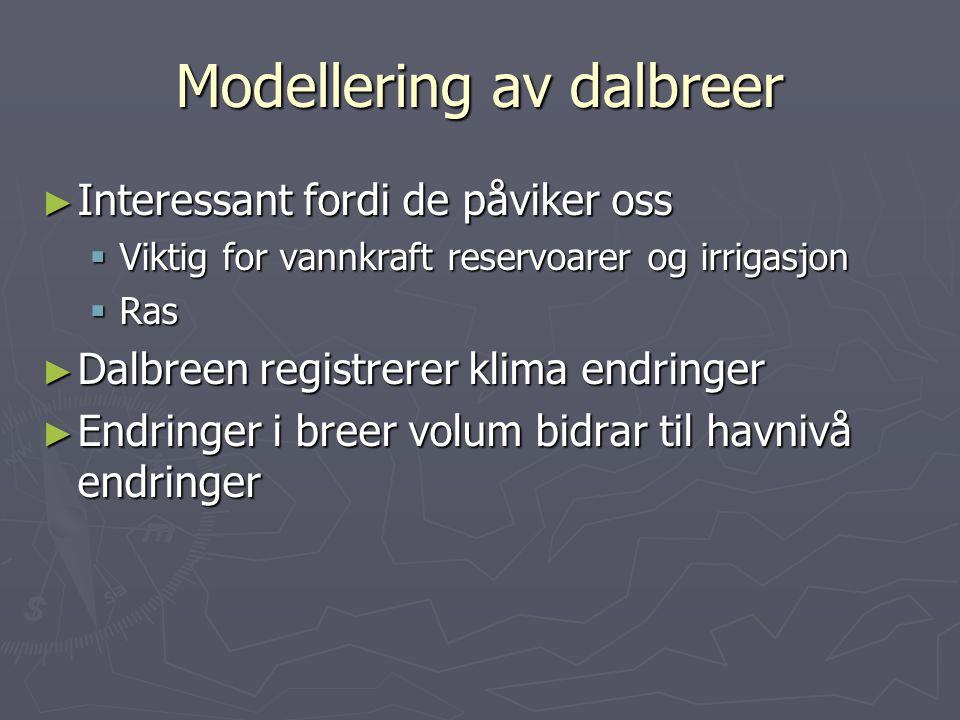 Modellering av dalbreer