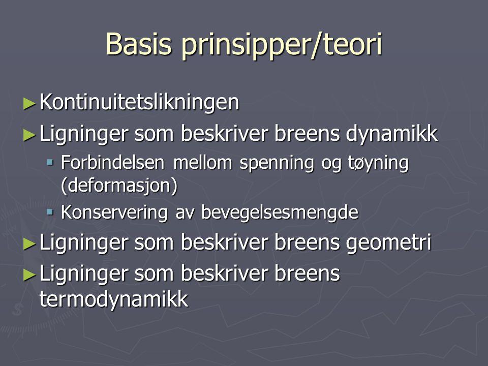 Basis prinsipper/teori
