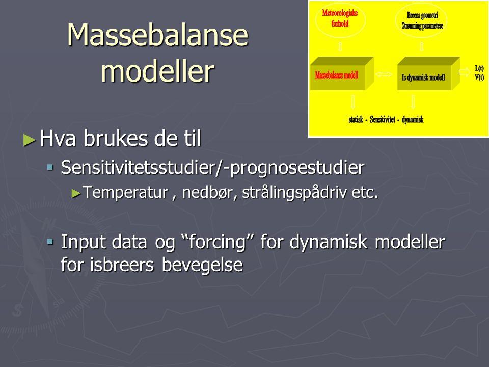 Massebalanse modeller