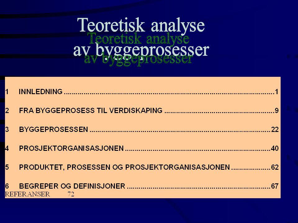 Teoretisk analyse av byggeprosesser