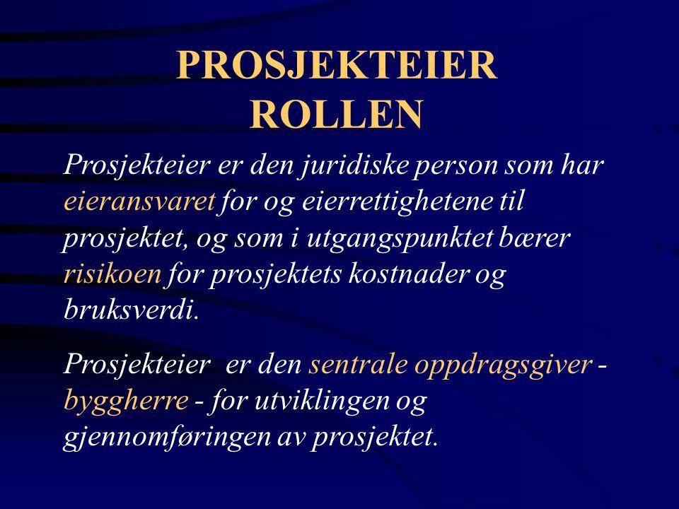 PROSJEKTEIER ROLLEN