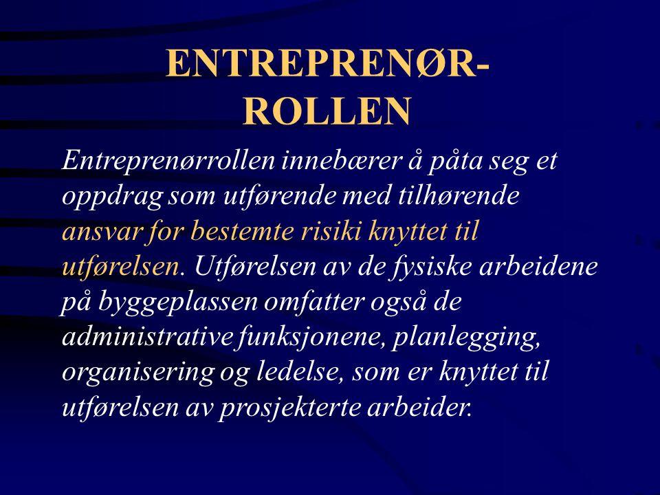 ENTREPRENØR- ROLLEN