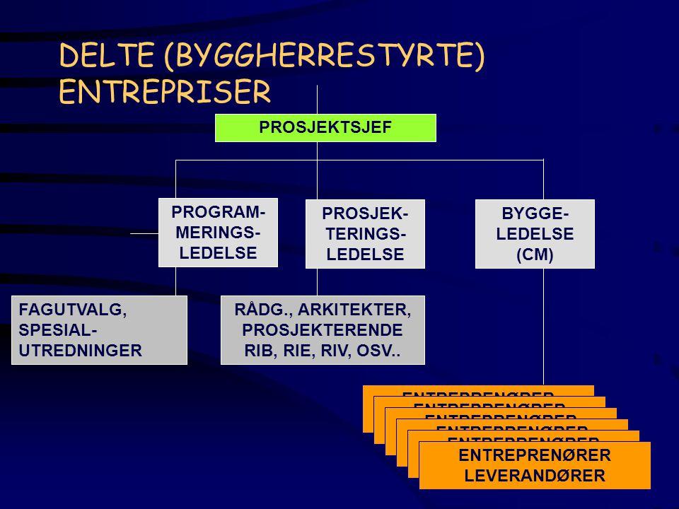 DELTE (BYGGHERRESTYRTE) ENTREPRISER