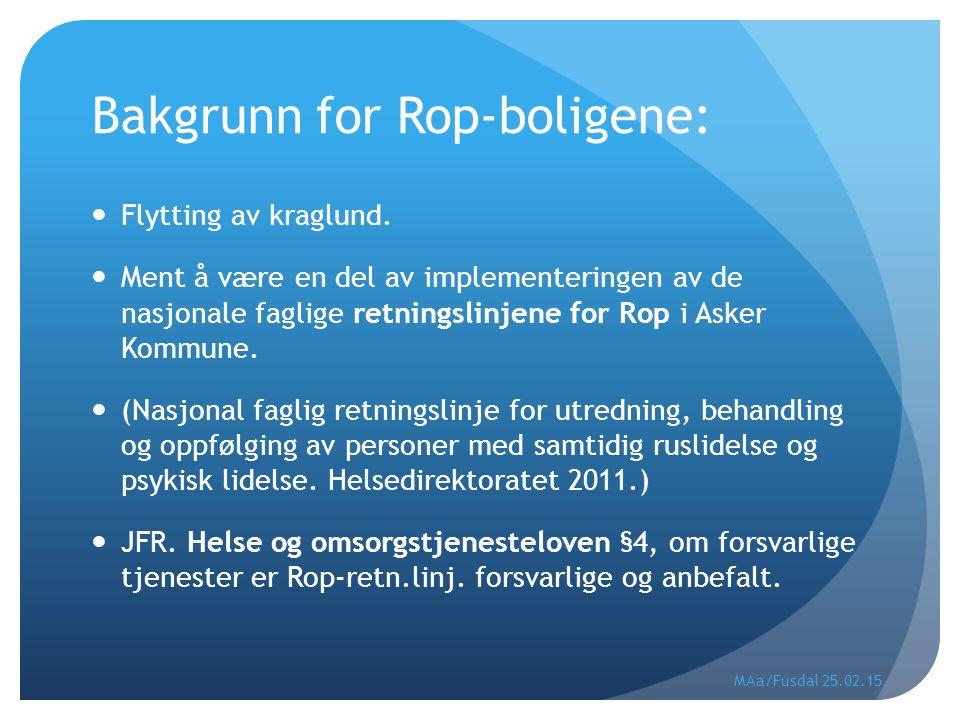 Bakgrunn for Rop-boligene: