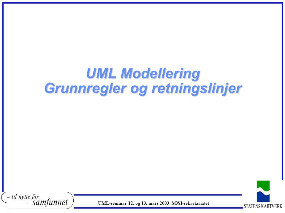UML Modellering Grunnregler og retningslinjer
