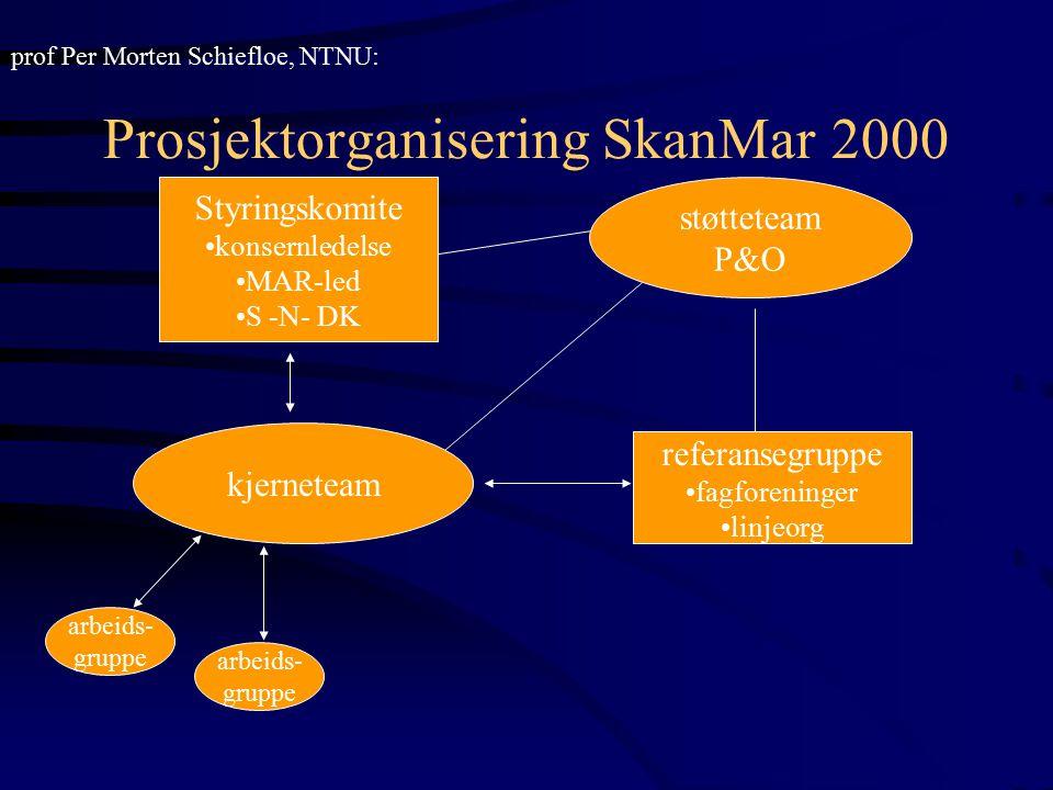 Prosjektorganisering SkanMar 2000