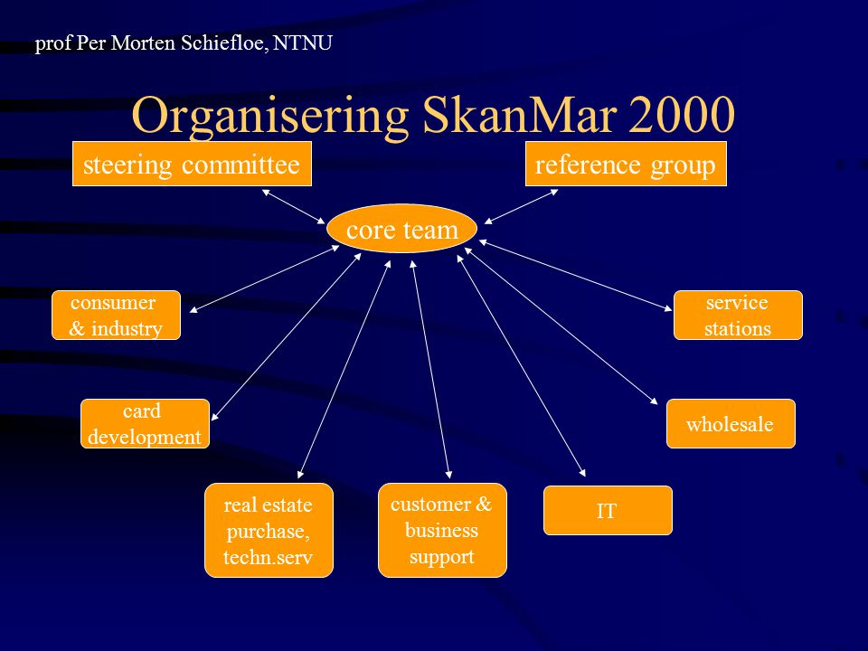 Organisering SkanMar 2000 steering committee reference group core team