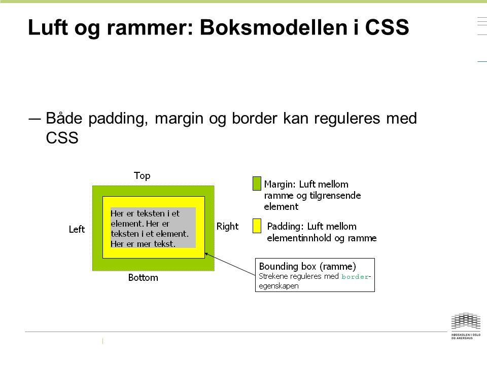 Luft og rammer: Boksmodellen i CSS