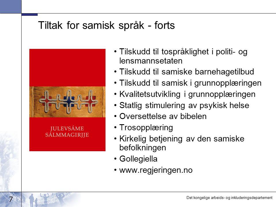 Tiltak for samisk språk - forts