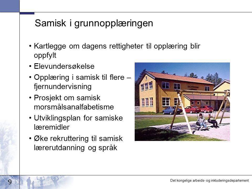 Samisk i grunnopplæringen