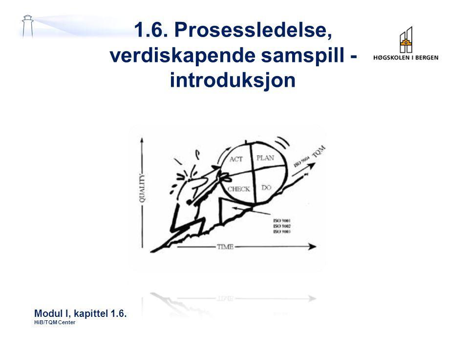 1.6. Prosessledelse, verdiskapende samspill - introduksjon