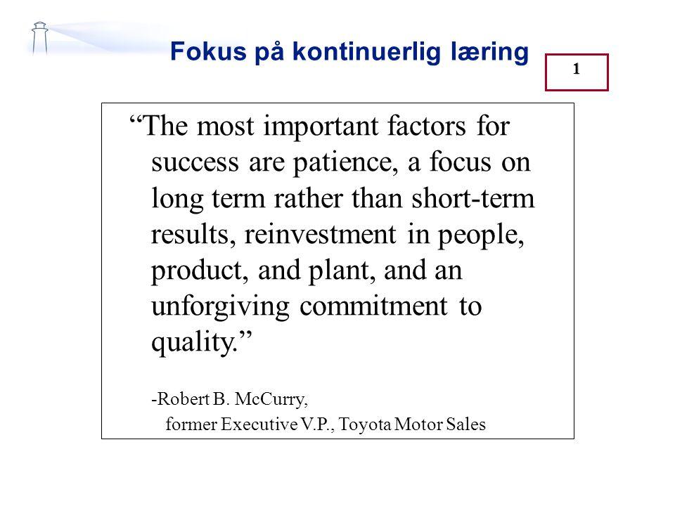 Fokus på kontinuerlig læring