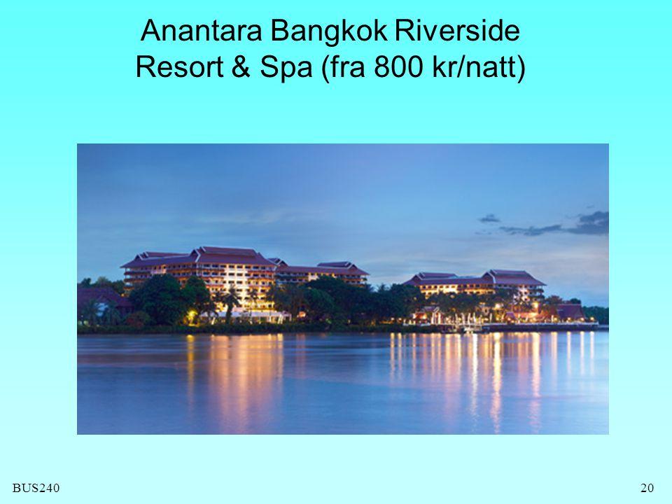 Anantara Bangkok Riverside Resort & Spa (fra 800 kr/natt)