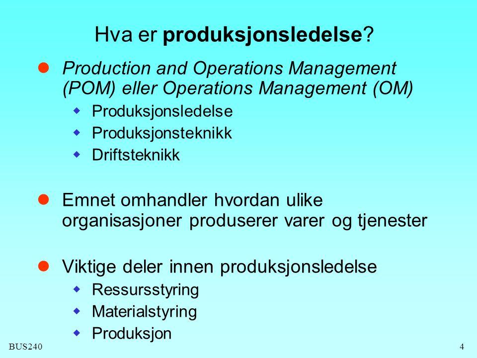 Hva er produksjonsledelse