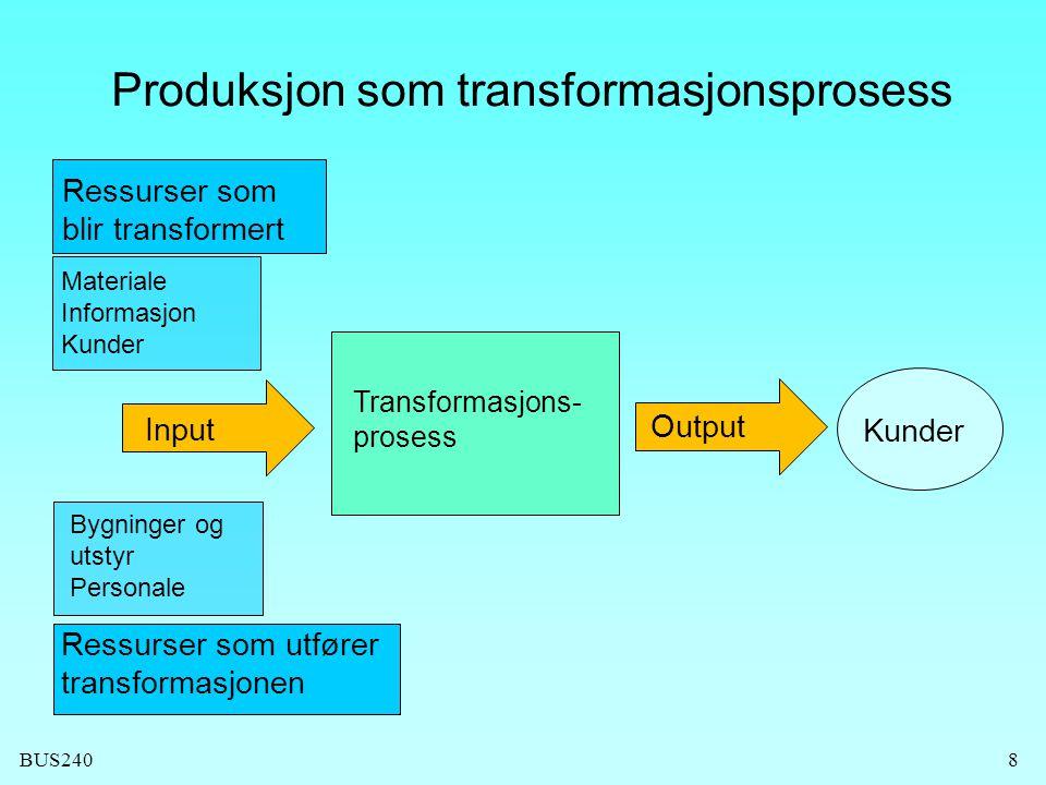 Produksjon som transformasjonsprosess