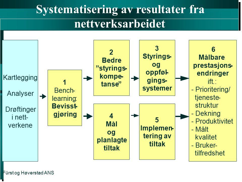 Systematisering av resultater fra nettverksarbeidet