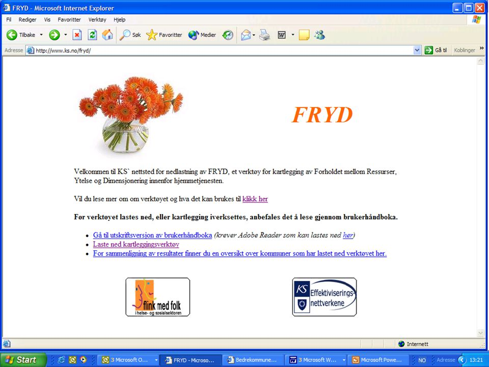 Slik ser det ut på nettstedet www. ks. no