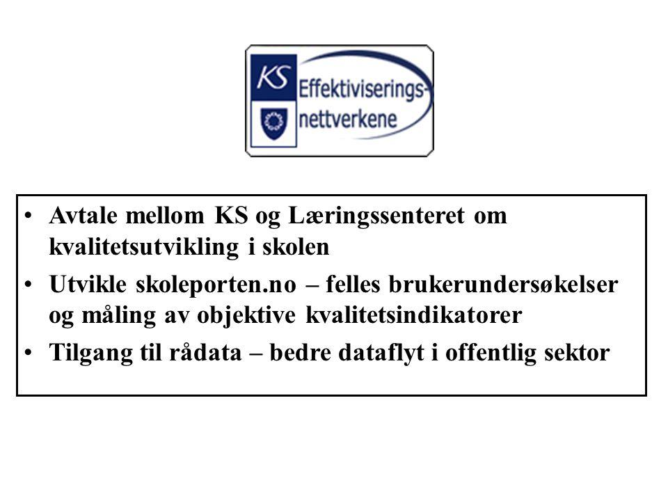 Avtale mellom KS og Læringssenteret om kvalitetsutvikling i skolen