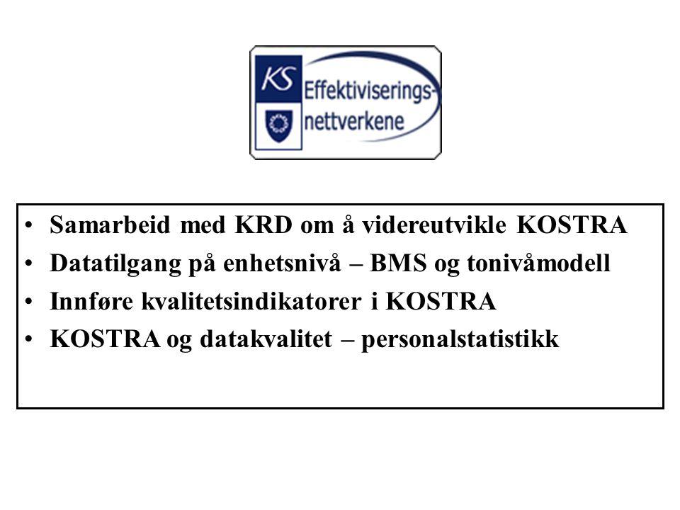 Samarbeid med KRD om å videreutvikle KOSTRA