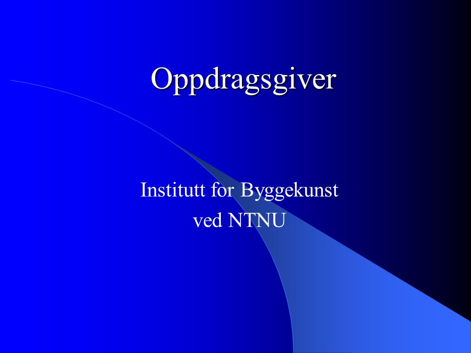 Institutt for Byggekunst ved NTNU